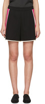 Lanvin Black & Pink Panelled Shorts