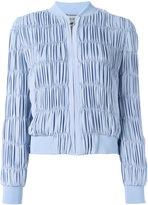 Versace ruched bomber jacket - women - Silk/Acrylic/Polyurethane/Viscose - 42