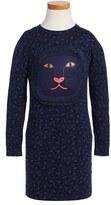 Little Marc Jacobs Girl's Leopard Fringe Sweater Dress