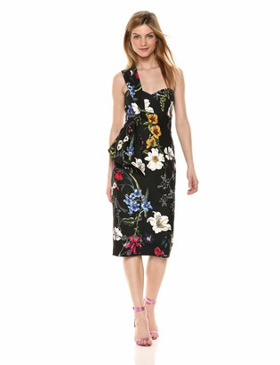 Parker Women's Kysha one Shoulder Asymmetrical midi Dress