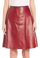 Marc Jacobs Seamed Leather Skirt