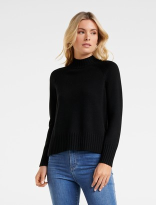 Ever New Ulla Stand Neck Wool Sweater