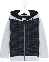 Armani Junior hooded jersey with small eagle pattern