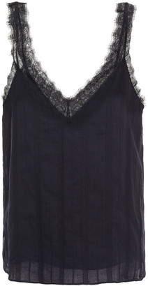 CAMI NYC Kris Lace-trimmed Cotton-gauze Camisole