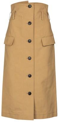 Victoria Beckham High-rise cotton canvas midi skirt