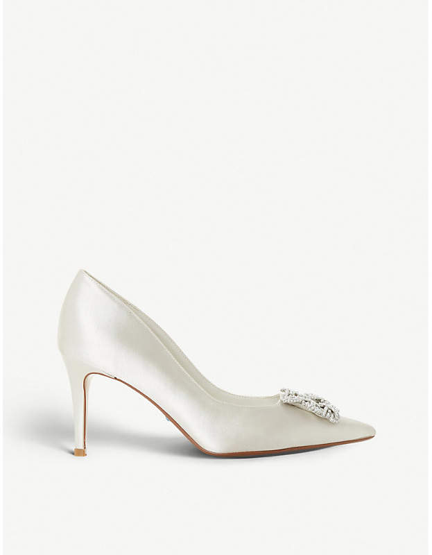 2b330c91c30 Breanna embellished satin pointed-toe court shoes