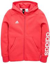 adidas Older Girl Linear Full Zip Hoody