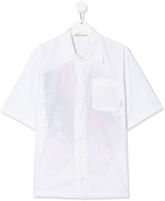 Marni TEEN rear print shirt