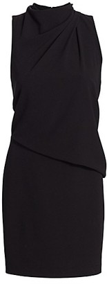 Halston Draped Sleeveless Mini Dress