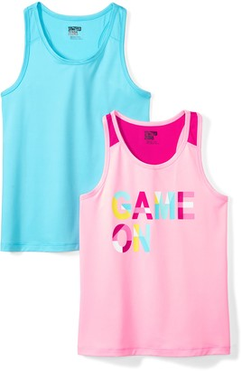 Spotted Zebra Amazon Brand Little Girls' 2-Pack Active Tank Tops