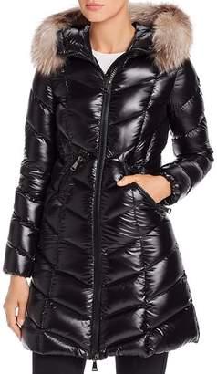 Moncler Fulmarus Fur-Trim Down Coat