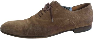 Gucci Brown Suede Lace ups
