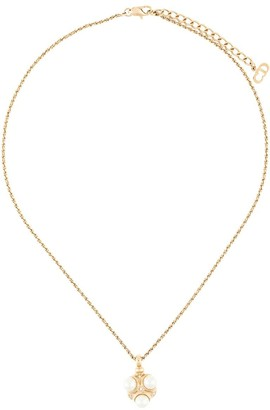 Christian Dior Pre-Owned faux-pearl pendant necklace