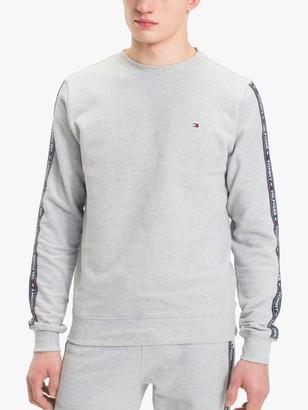 Tommy Hilfiger Logo Tape Sweatshirt, Grey Heather