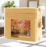 Elegant Comfort Wrinkle-Free 1500 Thread Count Egyptian Quality Deep Pocket, 4-Piece Bed Sheet Set , Queen, Maple Leaf-Camel