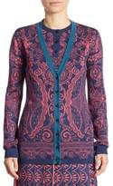 Mary Katrantzou Printed V-Neck Cardigan
