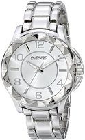 August Steiner Women's AS8159SS Silver Quartz Watch with Silver Dial and Silver Bracelet