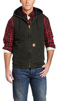 Carhartt Men's Sandstone Hooded Active Vest Quilt Lined