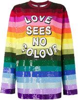 Ashish Love Sees No Colour sequin top