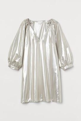 H&M Shimmering Dress - Silver