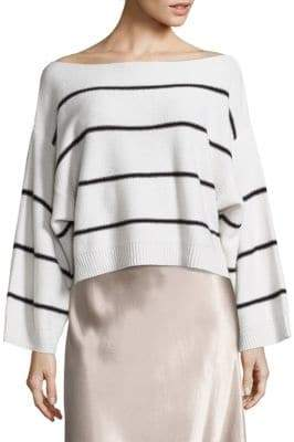 Vince Wide Striped Cashmere Top