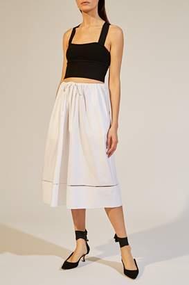 KHAITE The Camilla Skirt in White