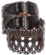 Alaia Leather Laser Cut Belt
