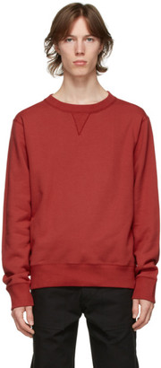 Naked and Famous Denim Red Heavyweight Terry Sweatshirt