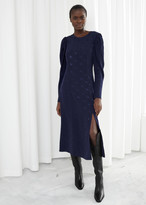 And other stories Horse Jacquard Midi Dress