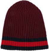 Gucci Web trim knitted beanie