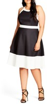 City Chic Plus Size Women's Fit & Flare Dress