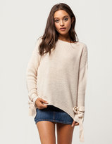 IVY & MAIN Tie Sleeve Womens Sweater