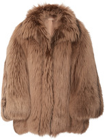 Michael Kors Arctic Marble Fox Fur Coat