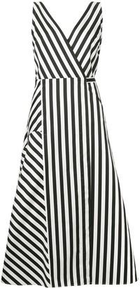 Anna October Striped Midi Dress