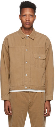 Remi Relief Beige Corduroy Easy Jacket