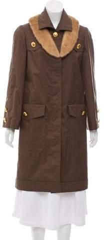 Givenchy Vintage Fur-Trimmed Coat