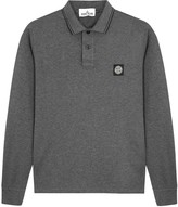 Stone Island Grey Cotton Blend Polo Shirt