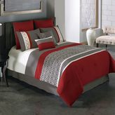 Bed Bath & Beyond Covington 8-Piece Comforter Set in Red/Grey