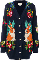 Gucci Oversize embroidered cardigan
