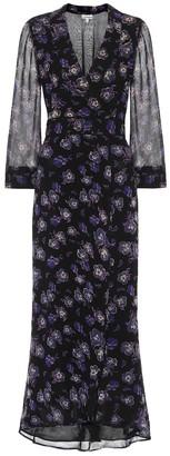 Ganni Floral georgette maxi wrap dress