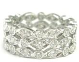 Tiffany & Co. Platinum Swing 3-Row Diamond Ring Sz 4.5