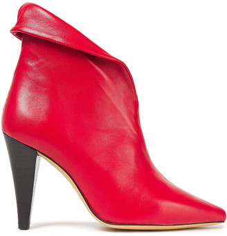 IRO Fawn Textured-leather Ankle Boots