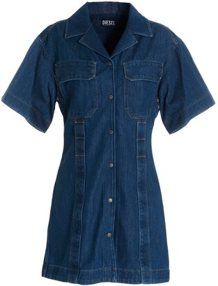 Diesel De-Amabel-Sp Denim Shirt Dress