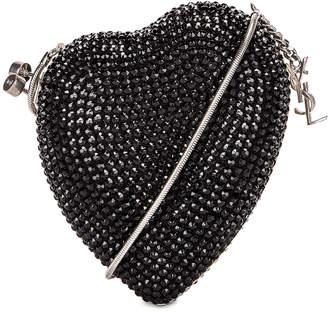 Saint Laurent Small Love Box Crossbody Bag in Black | FWRD