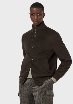 Emporio Armani Wool-And-Cashmere Blend Cloth Blouson