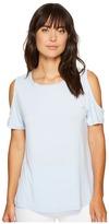 Calvin Klein Short Sleeve Cold Shoulder Top Women's Clothing