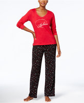 Charter Club Petite Graphic Pajama Set, Created for Macy's