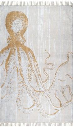 nuLoom Thomas Paul Metallic Octopus Tassel Rug