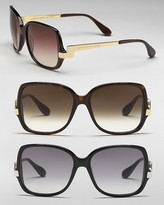 MARC BY MARC JACOBS Oversized Plastic Sunglasess with Metal Arms
