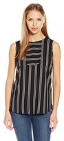 NYDJ Women's Sleeveless Striped Blouse